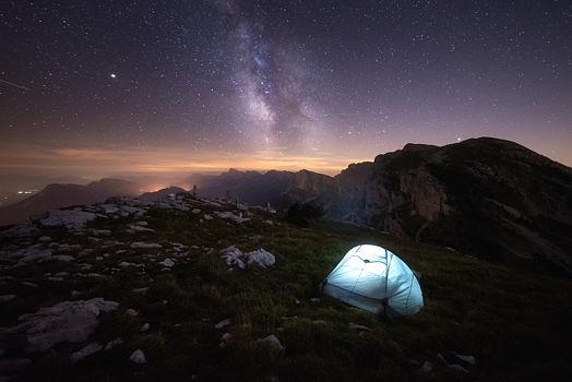 Bivouac sous les étoiles