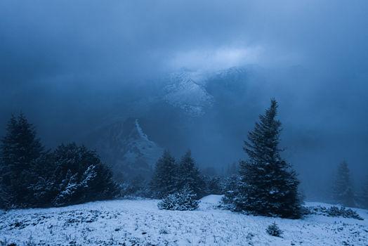 Les pentes du mont Barral