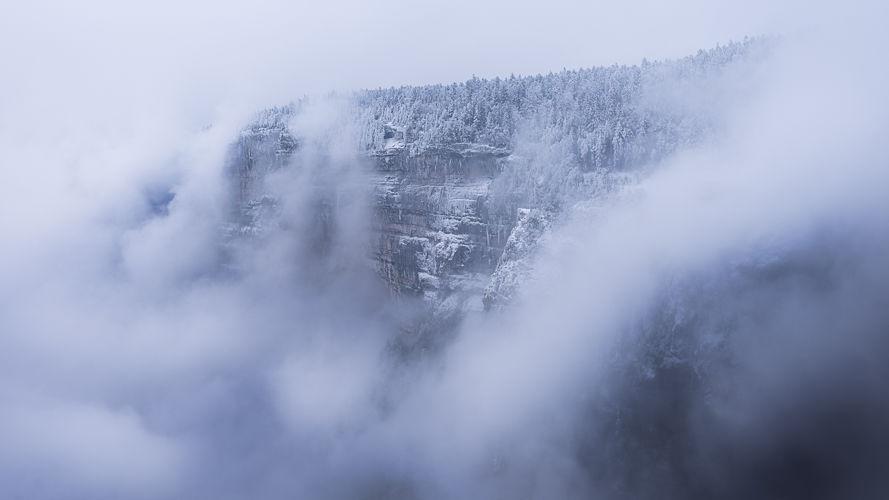 Combe Laval dans la brume