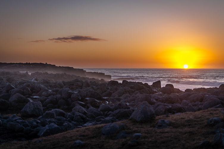 couché de soleil sur les côtes Irlandaises