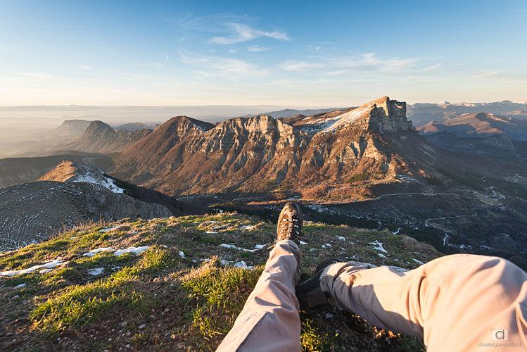 Depuis le sommet du Grand Delmas