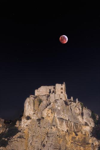 Eclipse au dessus de Crussol