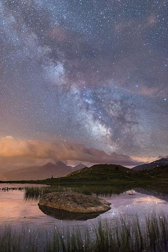Lac Guichard sous les étoiles