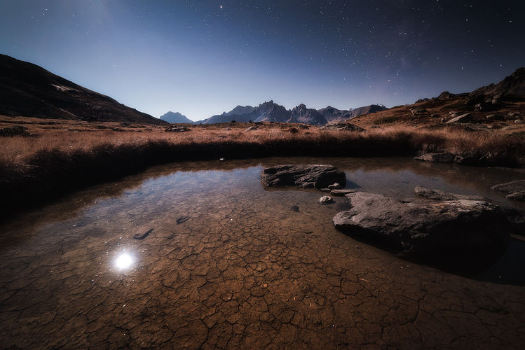 Lac Laramon au clair de lune
