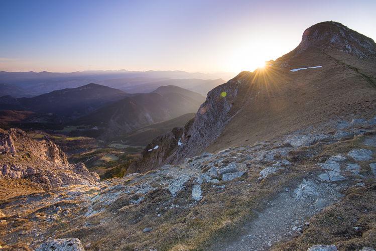 Le sommet du grand Delmas sur la droite