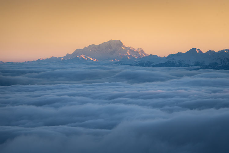 Mont blanc vu depuis le Vercors