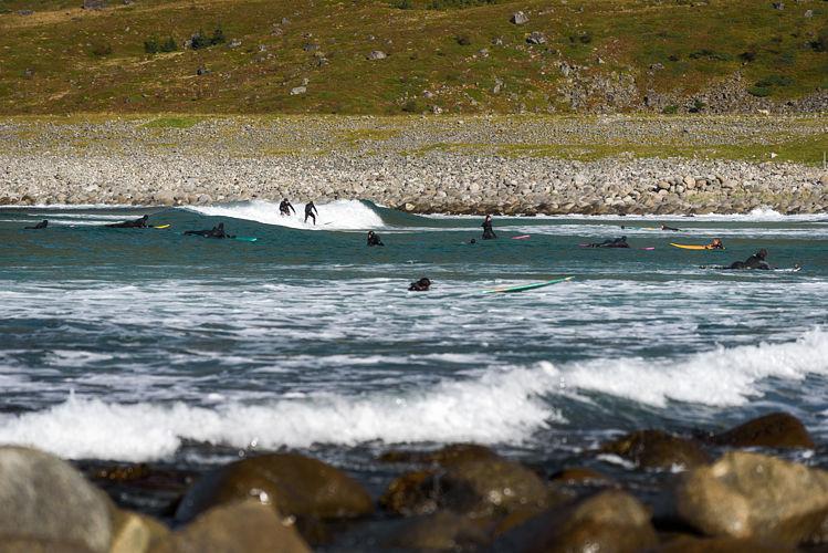 Surfeurs à Unstad