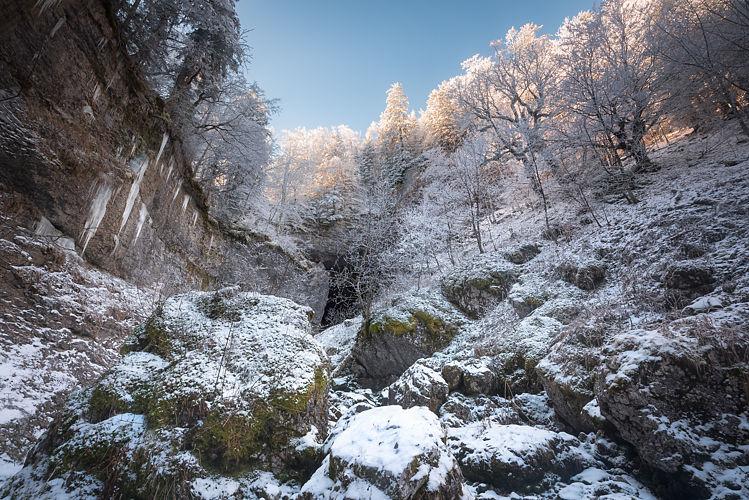 Le Brudour sous la neige