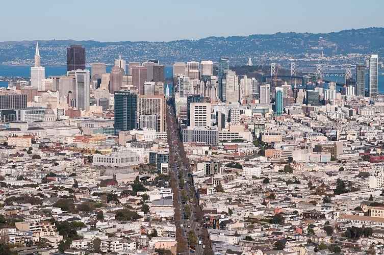 San Fransisco depuis les Twin peaks