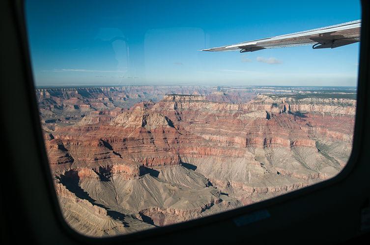 Une belle vue sur le Grand Canyon depuis l'avion !