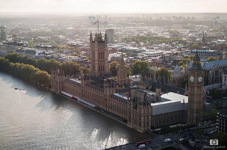 Westminster vu d'en haut
