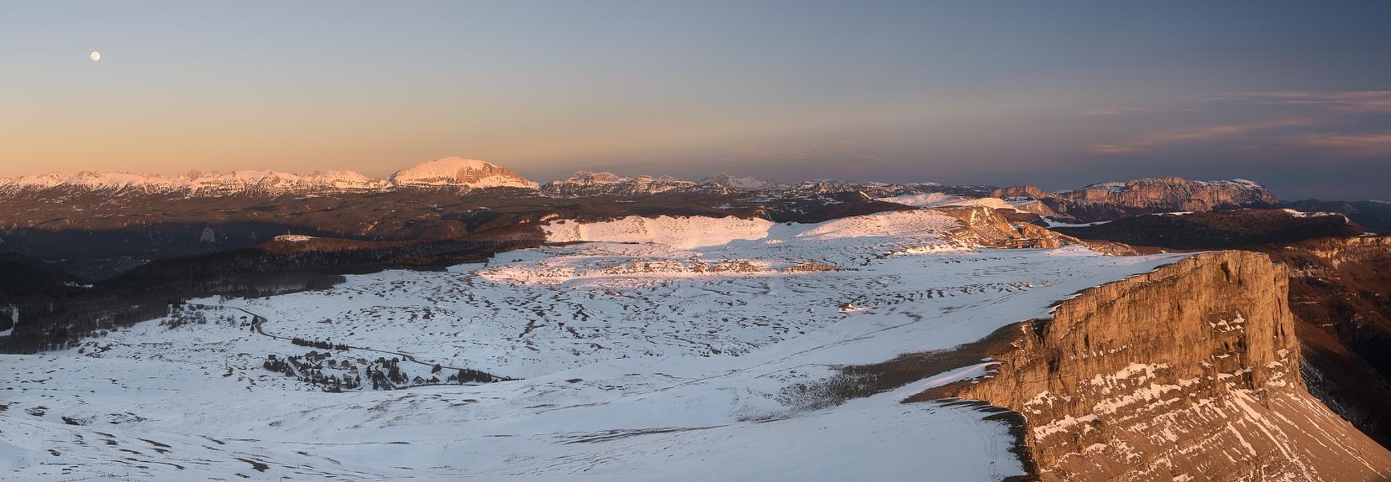 Panoramique du plateau de Font d'Urle dans le Vercors