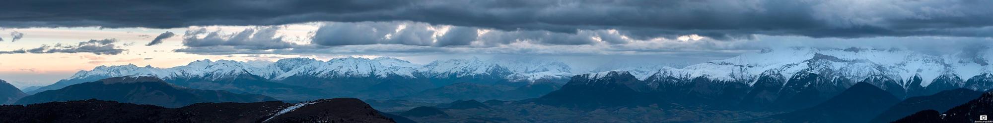 Panoramique depuis le Vallon de Combeau