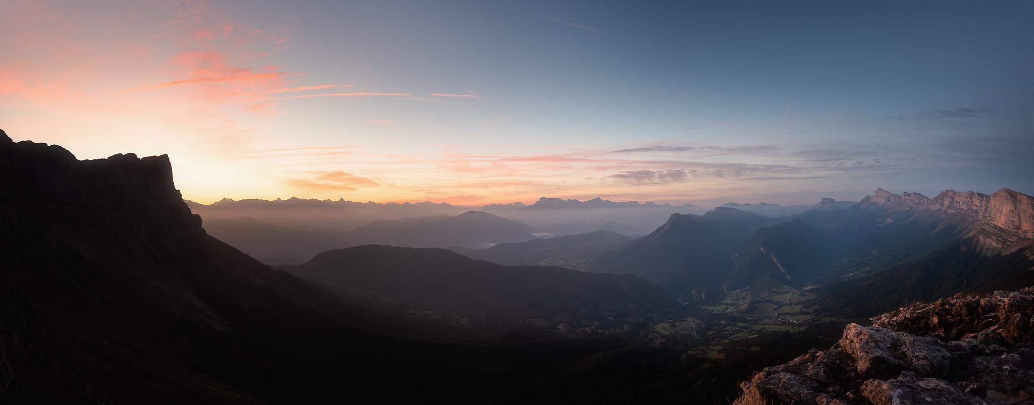 Panorama depuis le Pas de la Balme